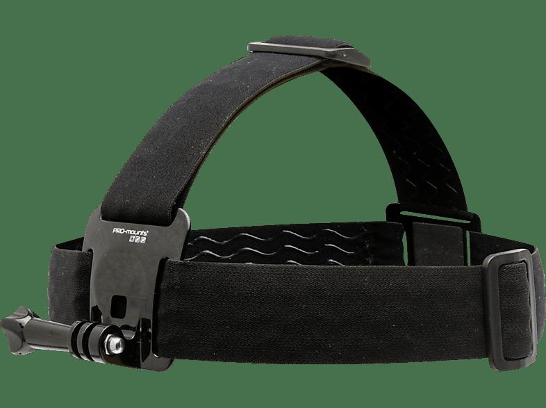 PRO-MOUNTS HeadStrap Mount+, Halterung, Schwarz, passend für GoPro und weitere Actioncams