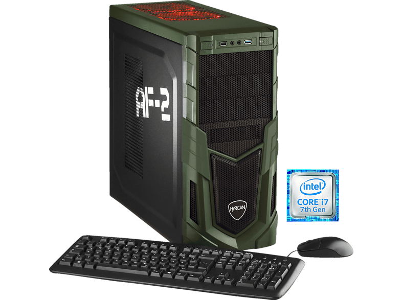 HYRICAN MILITARY GAMING 5718, Gaming PC mit Core™ i7 Prozessor, 16 GB RAM, 240 GB SSD, 1 TB HDD, GeForce® GTX 1060, 6 GB