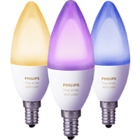 PHILIPS 241282 Hue White & Color Ambiance 3er Pack, E14, LED Leuchtmittel, Mehrfarbig