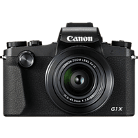 CANON PowerShot G1 X Mark III Digitalkamera Schwarz, 24.2 Megapixel, 3fach opt. Zoom, Touchscreen-LCD (TFT), WLAN