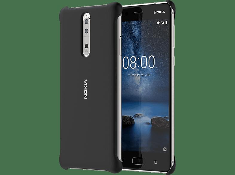 NOKIA CC-801 Backcover Nokia 8  Schwarz