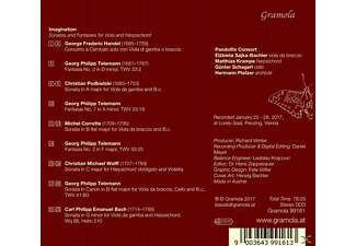 Elżbieta Sajka-Bachler, Matthias Krampe, Pandolfis Consort - Imagination  - (CD)