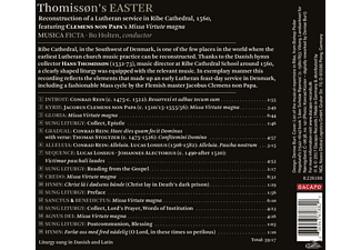 Bo/musica Ficta Holten - Easter  - (CD)