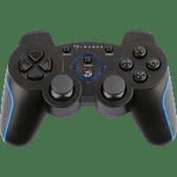PIRANHA PS3 PX3 Wireless Bluetooth Controller , Controller, Schwarz/Blau