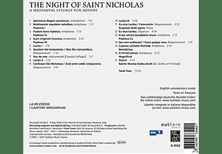 "La Reverdie, I ""Cantori Gregoriani"" Di Milano - The Night Of Saint Nicholas - A Medieval Liturgy For Advent  - (CD)"