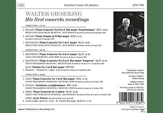 Walter Gieseking - Walter Gieseking-His First Concerto Recordings  - (CD)