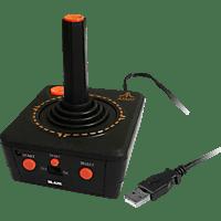 PQUBE Atari Vault Bundle + USB Joystick , Joystick, Schwarz/Rot