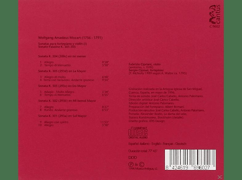 Fabrizio Cipriani, Sergio Ciomei - Mozart: Sonatas Para Fortepiano Y Violin (I),Sona [CD]