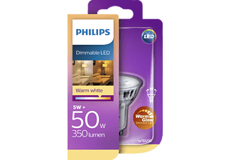 PHILIPS 56286400 WarmGlow LED Leuchtmittel GU10 Warmweiß 5 Watt 350 Lumen