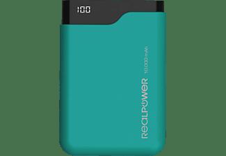 REALPOWER PB-10000C Powerbank 10.000 mAh (36 Wh) Grün