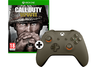 MICROSOFT Xbox One S Wireless Controller Groen + Call of Duty: WWII