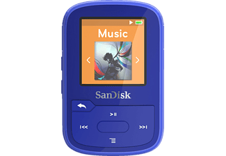 SANDISK Clip Sport Plus Mp3-Player (16 GB, Blau)