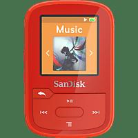 SANDISK Clip Sport Plus Mp3-Player (16 GB, Rot)