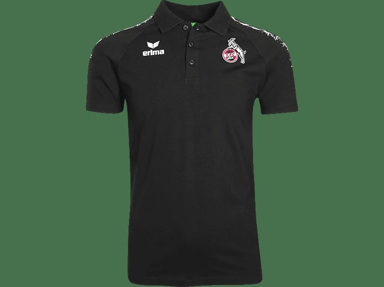 ERIMA 1.FC Köln Poloshirt, Schwarz/Weiß