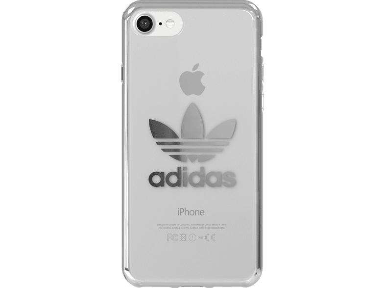 ADIDAS Originals Clear Case , Backcover, Apple, iPhone 7, iPhone 8, Thermoplastische Polyurethan, Silber