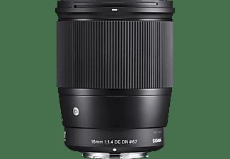 SIGMA 402963 Contemporary - 16 mm f/1.4 DC (Objektiv für Micro-Four-Thirds, Schwarz)