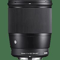SIGMA 402965 Contemporary 16 mm f/1.4 DC (Objektiv für Sony E-Mount, Schwarz)