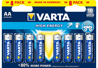 VARTA High Energy - Pile (Bleu/Argent)