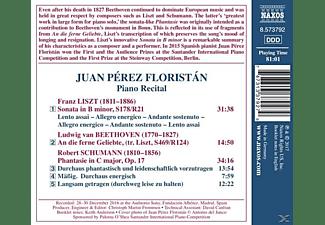 Juan Perez Florestan - Piano Recital  - (CD)