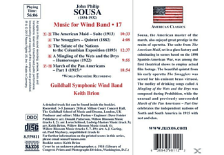 Keith Brion, Guildhall Symphonic Wind Band - Music for Wind Band Vol.17  - (CD)