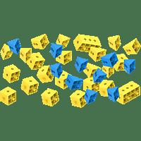 TINKERBOTS Tinkerbots Cubie Kit Bausteine, Gelb/Blau
