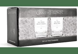 Game of Thrones Whiskeygläser 2-er Set, All Men Must...