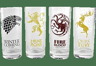 Game of Thrones Gläser 4er Set Alle Häuser