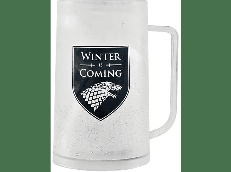 HALF MOON BAY Game of Thrones Krug Freeze Stark Merchandise, Transparent