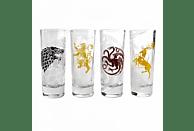 HALF MOON BAY Game of Thrones Schnapsgläser 4er Set All Houses Merchandise, Transparent/Bedruckt