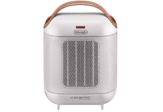 Calefactor cerámico - De Longhi HFX 30C18, 1800W, Blanco y marrón