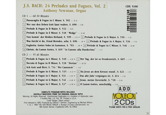 Anthony Newman - 24 Präludien und Fugen,Vol.2  - (CD)