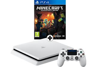 SONY PlayStation 4 (Slim) 500 GB Wit + Minecraft