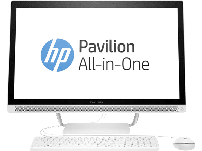 HP 27-r005ng, All-In-One-PC mit 27 Zoll Display, Core™ i7 Prozessor, 16 GB RAM, 1 TB HDD, 128 GB SSD, Radeon™ 530, Weiß