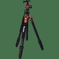 ROLLEI 22539 C50i Dreibein Stativ, Orange, Höhe offen bis 1550 mm