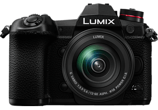 PANASONIC Lumix DC-G9MEG Systemkamera mit Objektiv Lumix G Vario 12-60mm, schwarz