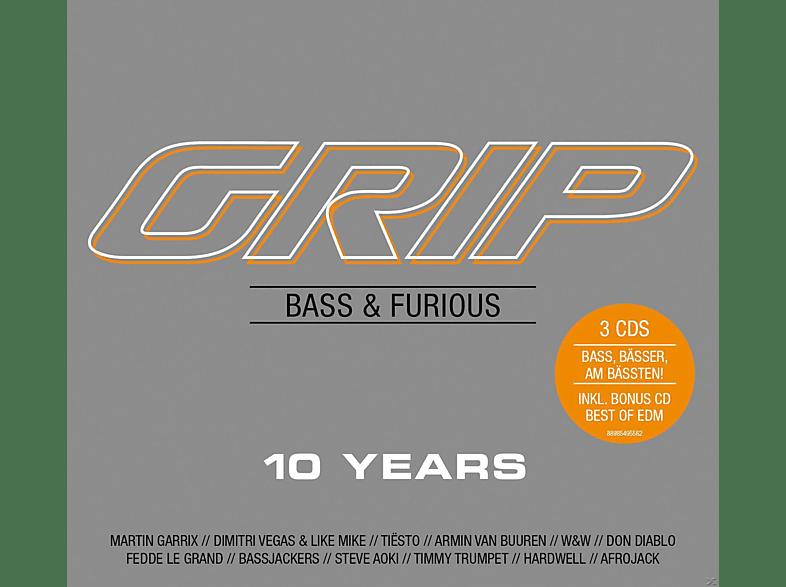 VARIOUS - GRIP Bass & Furious 10 Years [CD]