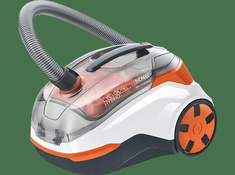 THOMAS 786.550 Cycloon Hybrid Pet & Friends Staubsauger, maximale Leistung: 1700 Watt, Orange/Weiß)