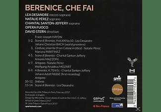 Lea Desandre, Natalie Perez, Chantal Santon Jeffery, Opera Fuoco - Berenice,Che Fai ?  - (CD)