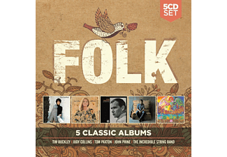 Tim Buckley, Judy Collins, Tom Paxton, John Prine, The Incredible String Band - 5 Classic Albums: Folk - (CD)