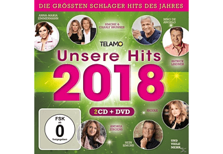VARIOUS - Unsere Hits 2018  - (CD + DVD Video)