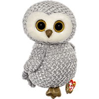 TY Owlette Eule Plüschfigur, Weiß/Gelb