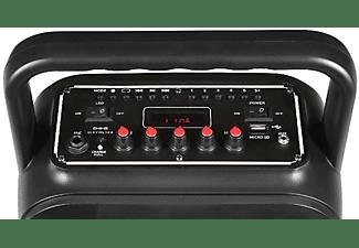 Altavoz portátil - Fonestar BOX-35LED, Micrófono, Bluetooth, Karaoke, Efectos luminosos, Negro