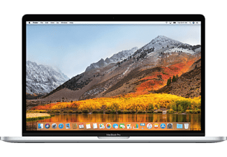 APPLE MacBook Pro MR972D/A mit deutscher Tastatur, Notebook mit 15,4 Zoll Display, Core™ i7 Prozessor, 16 GB RAM, 512 GB SSD, Radeon™ Pro 560X, Silber
