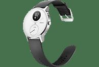 NOKIA  Activité STEEL HR Fitnesstracker Edelstahl, Silikonband, 36 mm, Schwarz/Weiß
