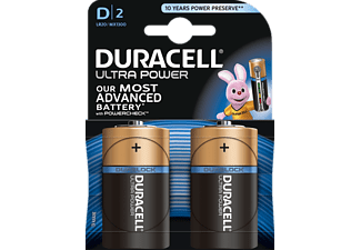 DURACELL Ultra Power D-batterijen 2 pack