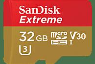 SANDISK Extreme®, Micro-SDXC Speicherkarte, 32 GB, 100 MB/s