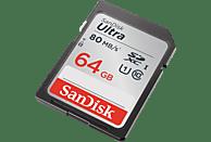 SANDISK Ultra, SDXC Speicherkarte, 64 GB, 80 MB/s