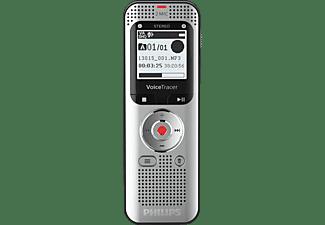 PHILIPS Voice Tracer DVT2050 Audiorecorder, Aluminium, leichte silberne Metallvorderseite und schwarz