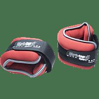 CHRISTOPEIT 2x 2 kg (Paar) Gewichtsmanschetten, Schwarz/Rot