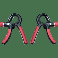 CHRISTOPEIT 2x  Handexpander, Schwarz/Rot